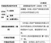 人保财险杭州西湖支公司违法领罚单 虚构业务套取费用